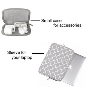 Open image in slideshow, Grey Laptop Bag Case for Macbook Air Pro