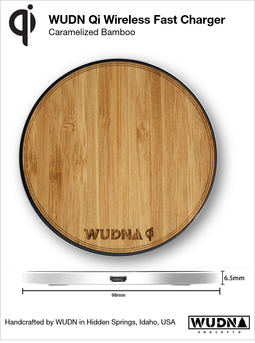Wooden 10w Qi Wireless Charger