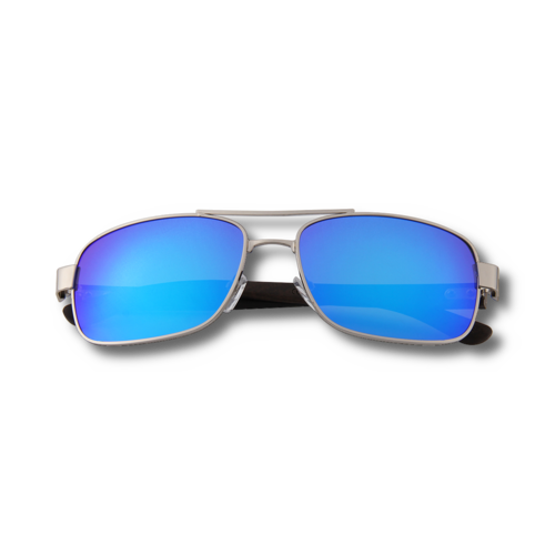Ebony Wooden Silver Framed Slim Aviators