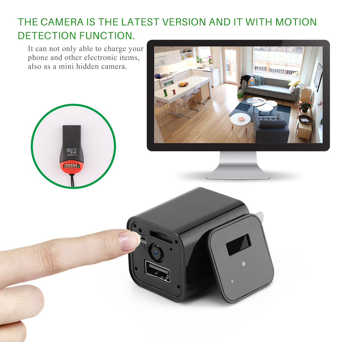 HD 1080P Hidden Camera Charger Box