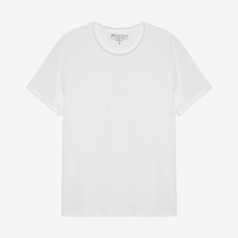 Mens Crew-Neck Relaxed White