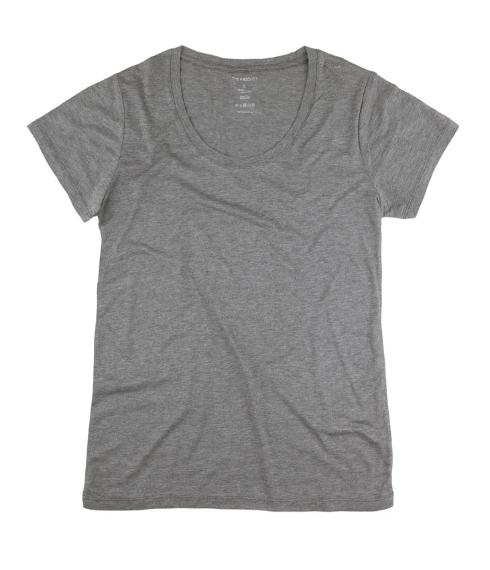Women T-Shirt Grey Melange