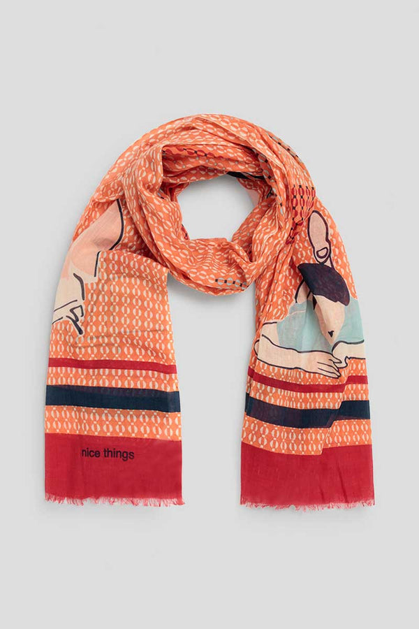 Sommer-Schal Bauhaus Women Scarf Orange