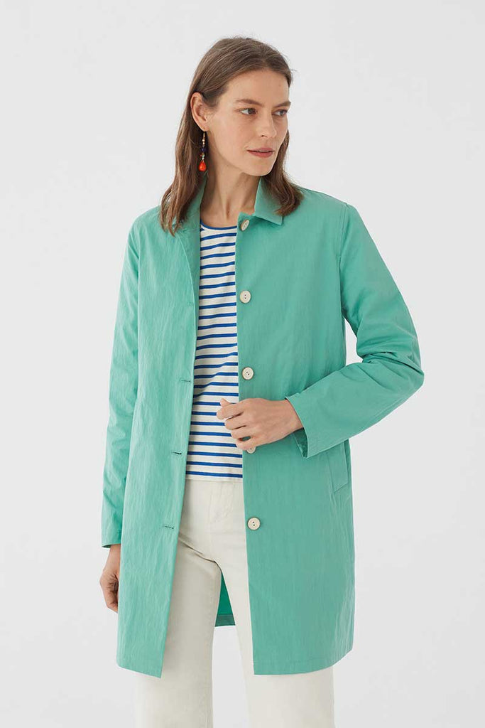 Jacke Basic Colour Trench Türkis