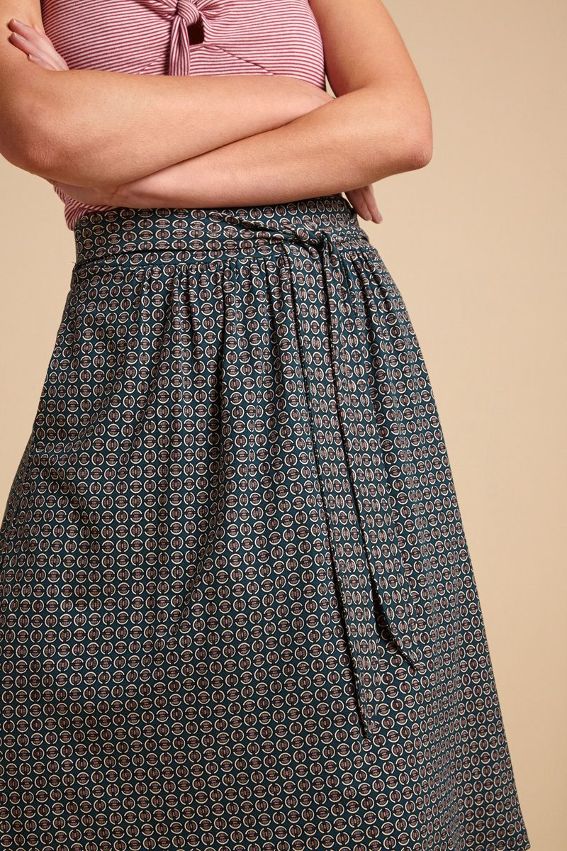 Gail Skirt Bourbon Dragonfly Green von King Louie