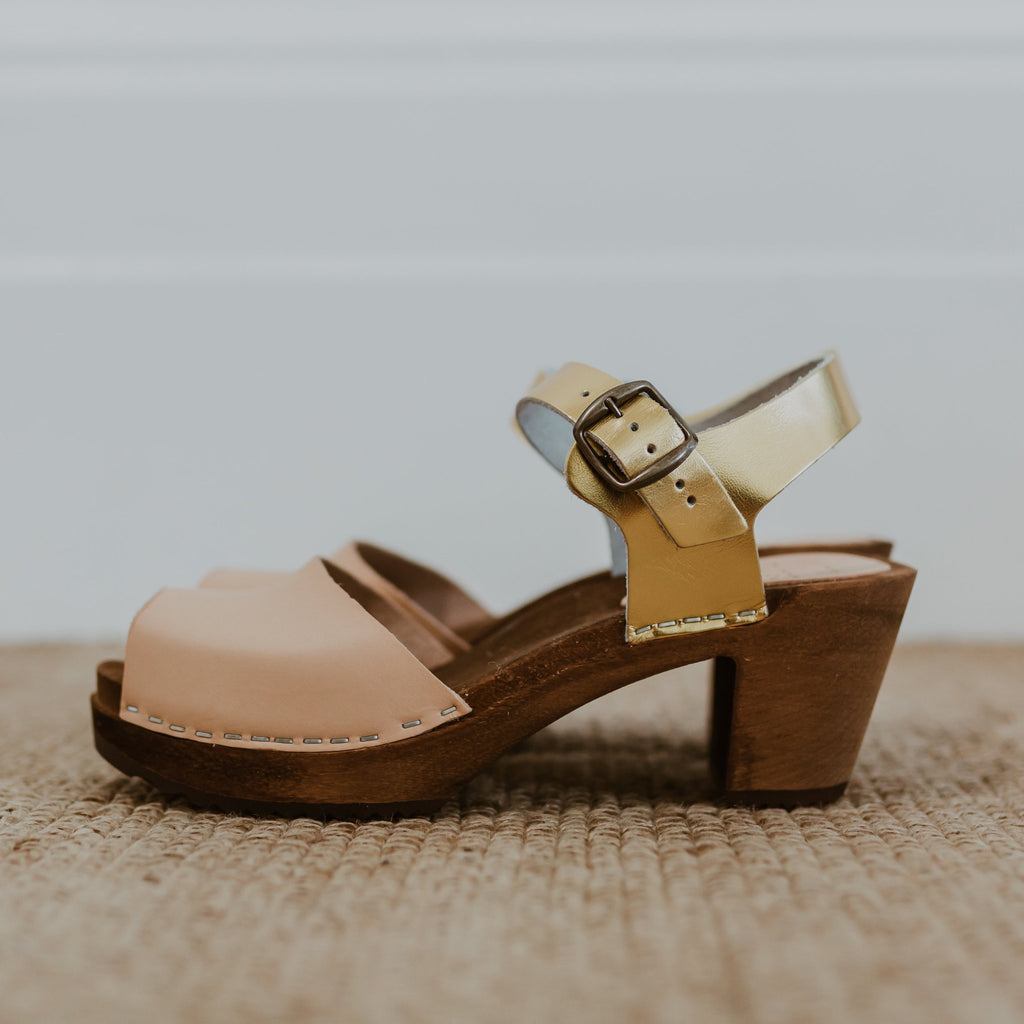 KITTY CLOGS Fresta Natural Gold