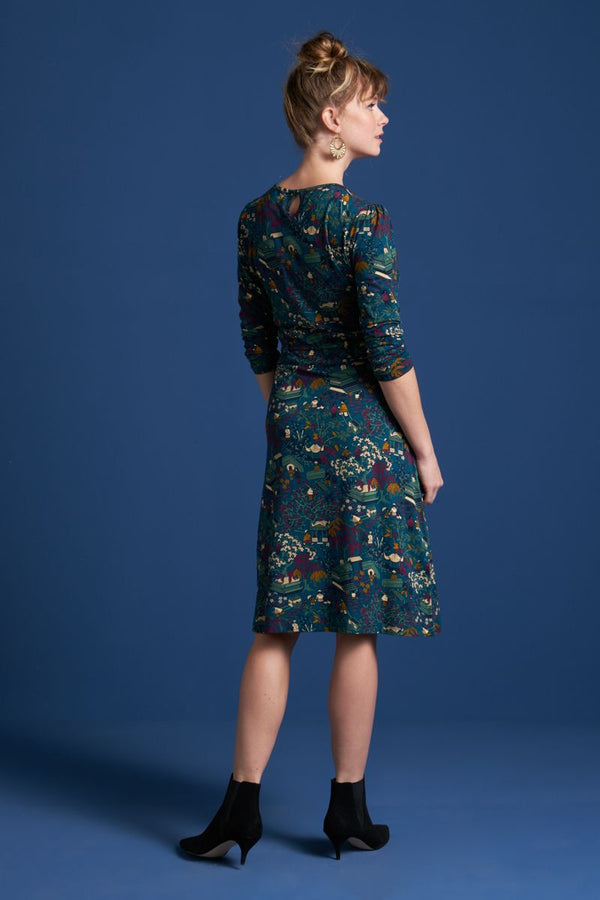 Cecil Dress Manzai Autumn Blue von King Louie