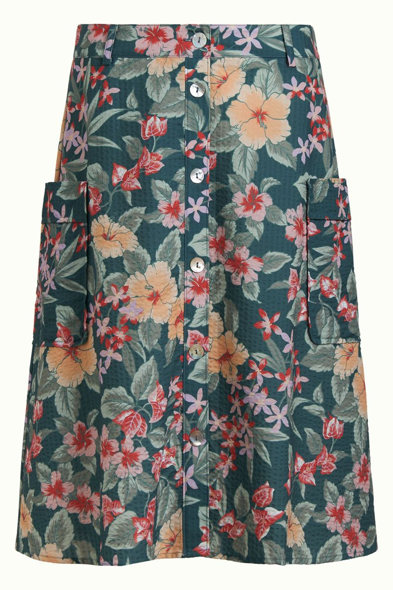Fifi Button Skirt St Kitt Harbor Blue von King Louie