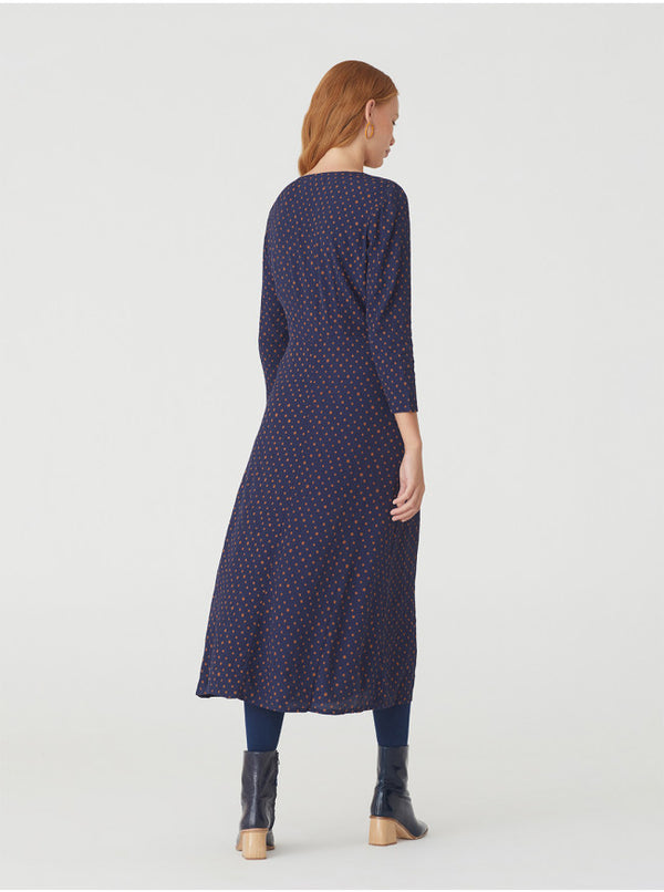 Vestido Midi Small Dot Print Dress von Nice Things Paloma S