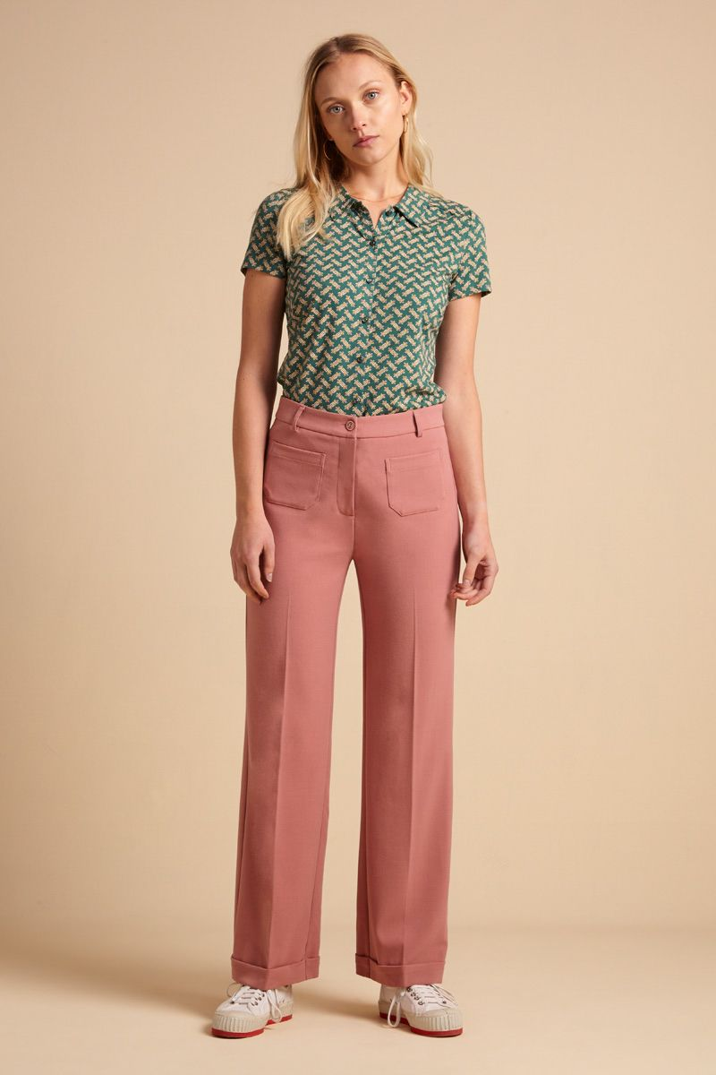 Carice V Top Rib Tencel dusty rose von King Louie