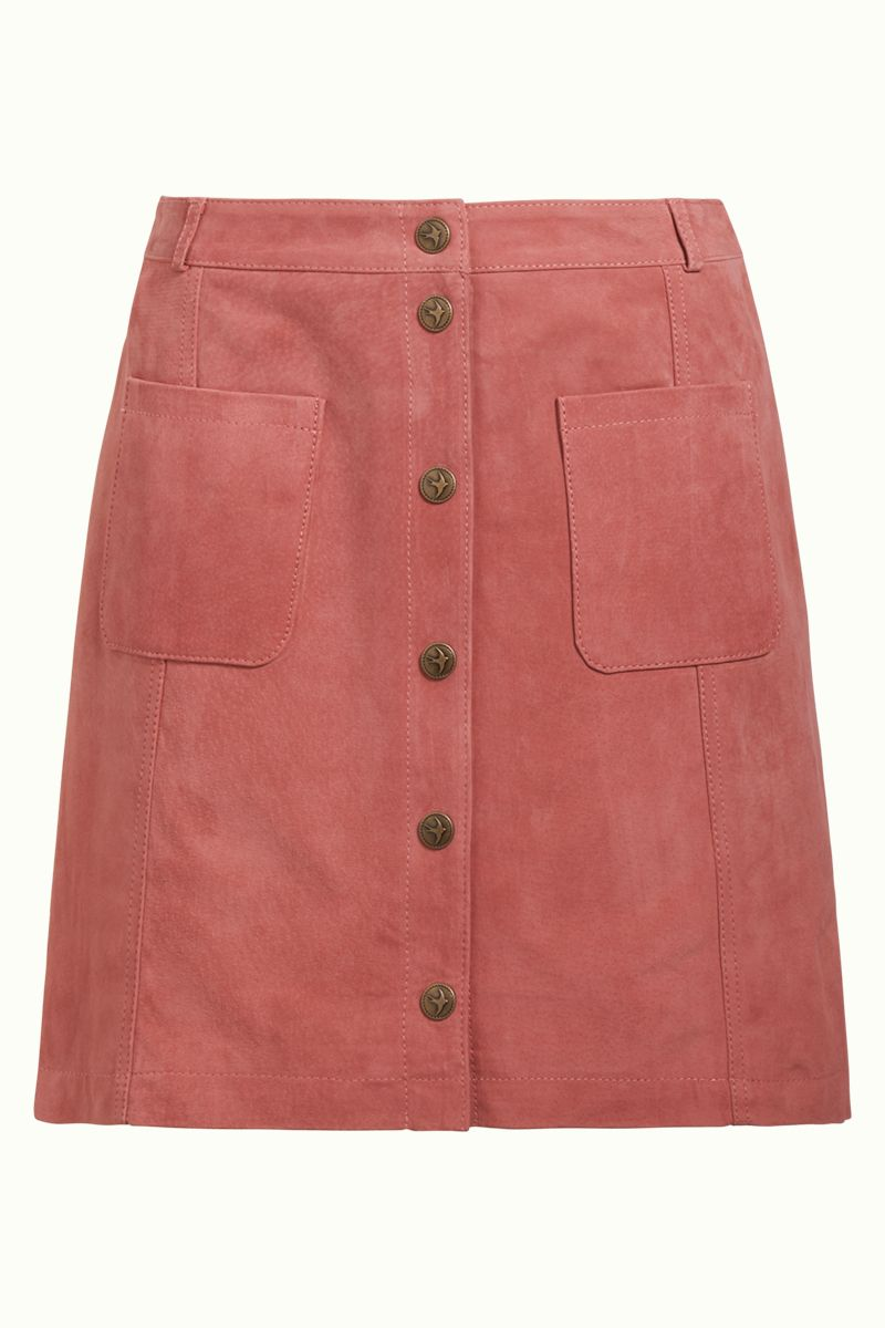 Garbo Mini Skirt Suede Dusty Rose von King Louie