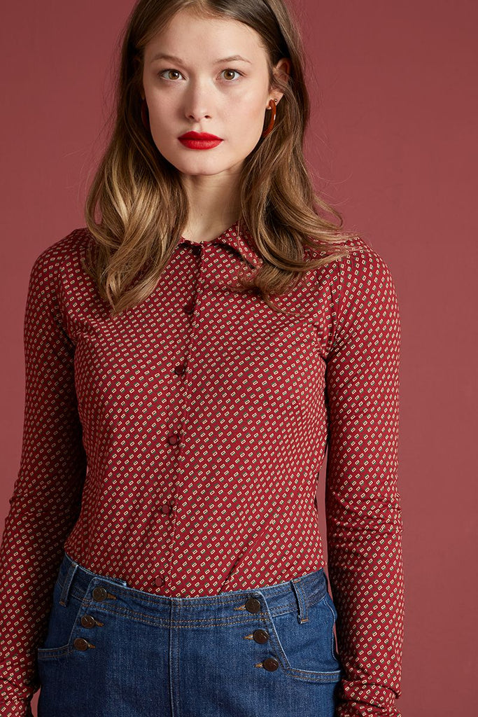 Blouse Coney Ribbon Red von King Louie