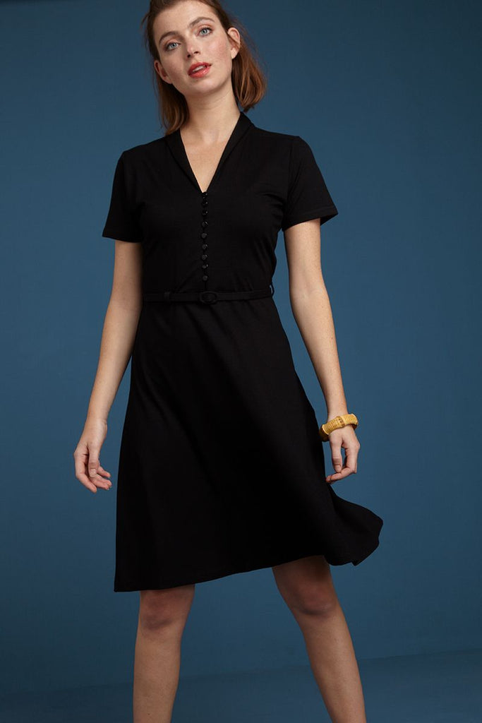 Emmy Dress Ecovero Classic Black von King Louie