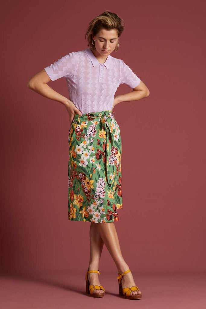 Jupe Lola Button Skirt Tula Jungle Grün