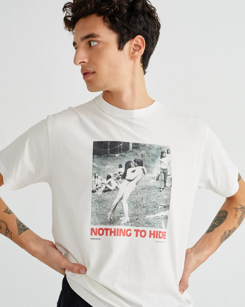 Nothing To Hide T-Shirt Thinking Mu