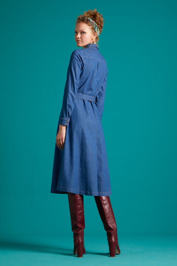 Olive Dress Chambray River Blue von King Louie