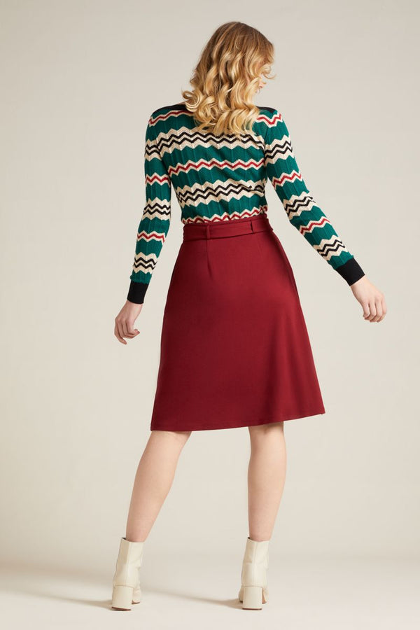 Ava Skirt Milano Uni Ribbon Red von King Louie