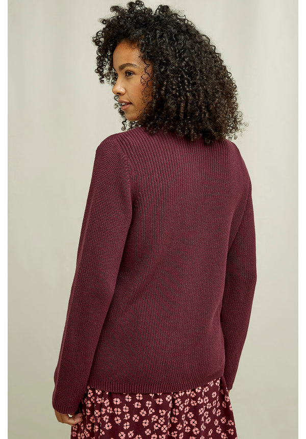 Rowena Strickjacke Burgundy People Tree