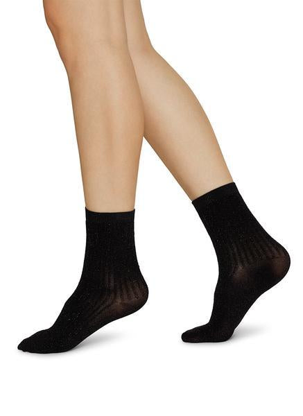 SWEDISH STOCKINGS Stella Shimmery Socks 80 Denier Black