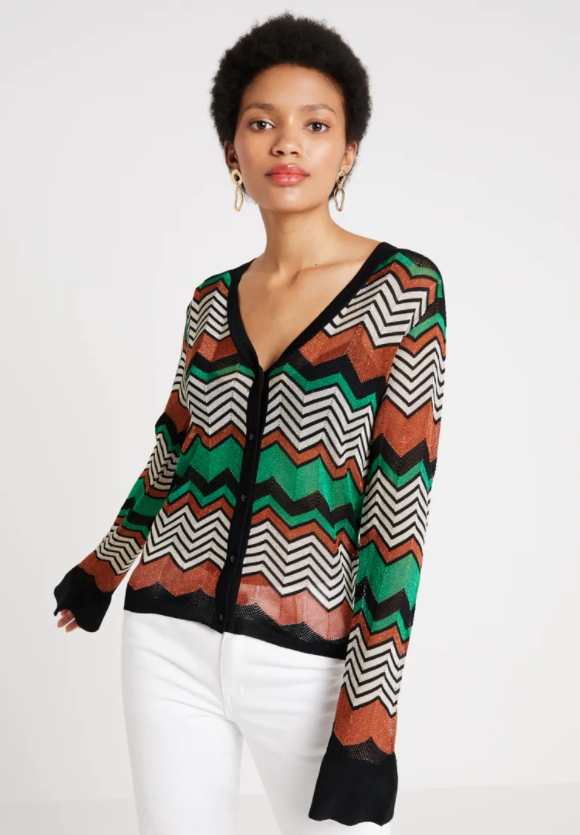 Wave Knit Cardigan Blarney
