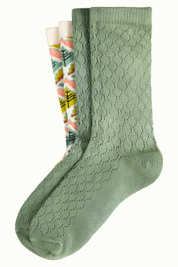 Socken 2er-Pack Medaillon Cream