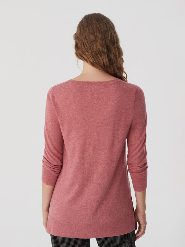 V-neck Basic Sweater Light Pink Nice Things