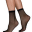 SWEDISH STOCKINGS Vera Net Ankle Sock Micro-Net Black