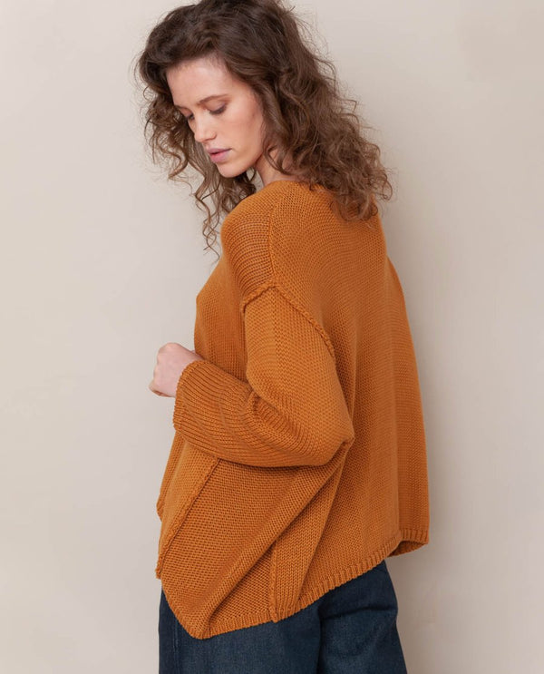 Alessandra-Jane Organic Cotton Jumper In Sun von Beaumont Organic