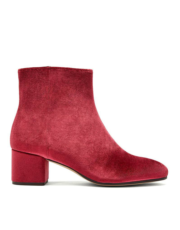 Ankle Boot Strand Red Velvet