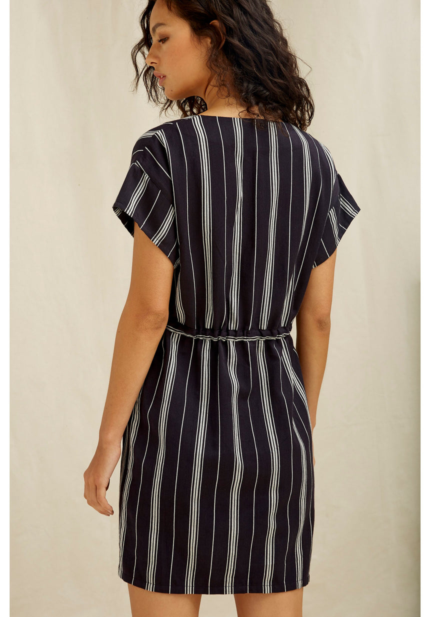 Luella Stripe Dress Blue