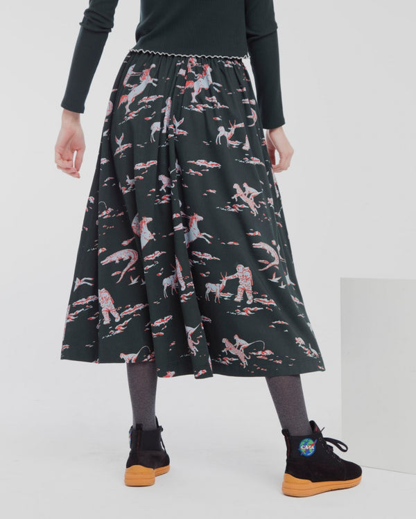 Space Rider Mae Long Skirt