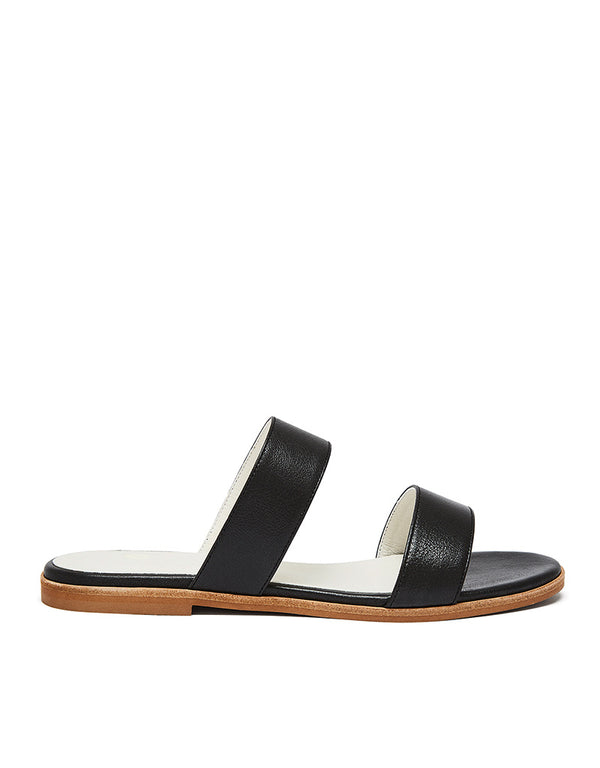 Strappy Slide #Adria Black Shine von Nine To Five