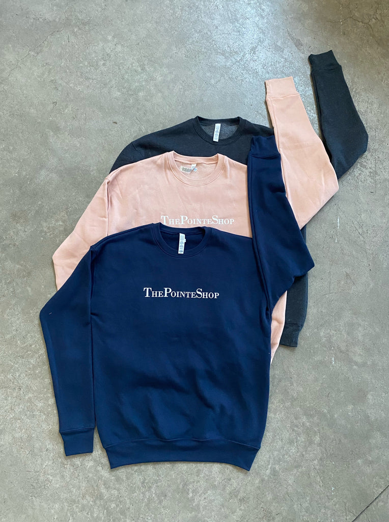 """ThePointeShop"" Cozy Crew Sweater"