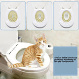 Plastic Cat Toilet Training Kit Kitten Seat Litter Cleaning Potty Tray for Pets