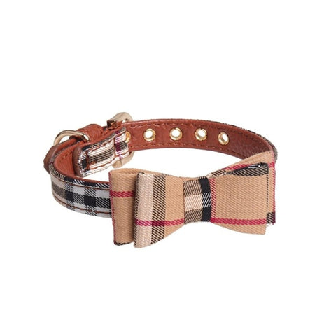 Dog Bow Collar Triangular Binder Scarf Plaid Pattern Cute Pet Collar Washable Pet Dog Bandanas Scarfs Ties Collars British Style
