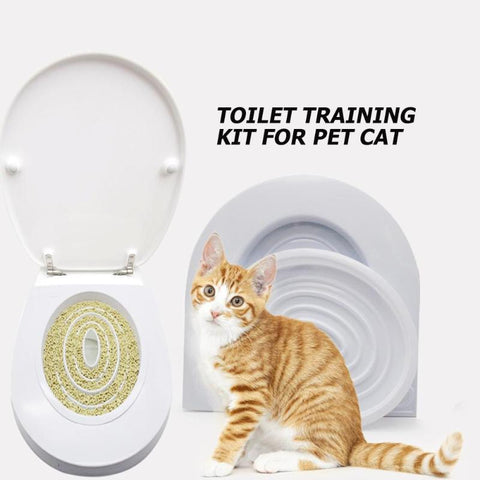 Pet Cat Toilet Seat Training Kit Puppy Litter Potty Tray Pets Cleaning Supplies Small Cat Potty Train Pet Products