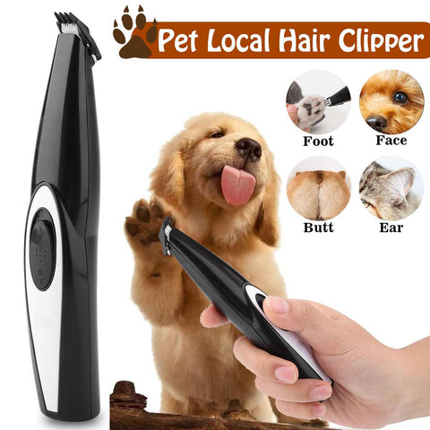 USB Rechargeable Dog Cat Foot Hair Trimmer Pet Grooming Tool Mini Electrical Hair Clipper Shaving Trimming Machine Built-in batt