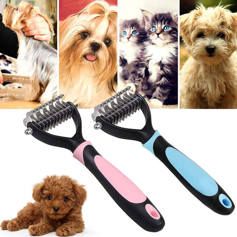 Pet Dogs Professional Pet Undercoat Rake Dematting Comb Grooming Stripping Tool for Dog Cat Puppy Hogard