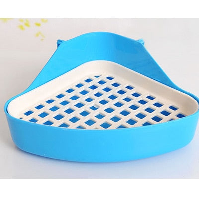 Pet Cat Rabbit Pee Toilet Small Animal Hamster cage Guinea Pig Litter Tray Corner Pet Litter Training Tray