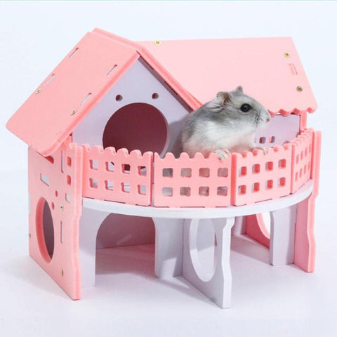 Cute Rabbit, Hamster, Small Animal House Cage (Single-Double layered)