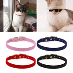 Pet Elastic Collar Safety for Small Dog & Cat (Adjustable made from Soft Velvet Material)