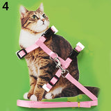 Adjustable Nylon Cat Collar Puppy Pet Harness Collar Lead Leash Traction Safety Rope for Cats