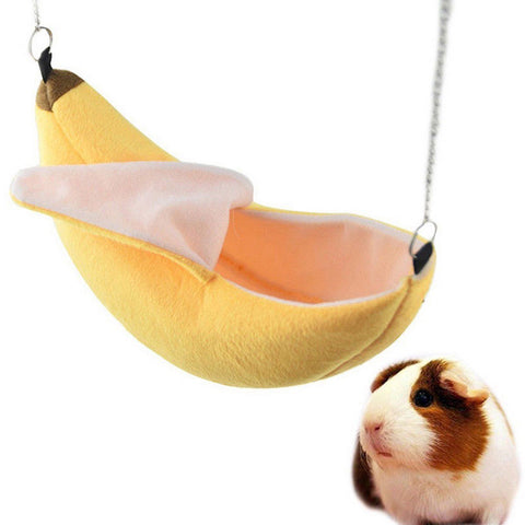 Rat, Hamster, Small Animals Hanging Sleeping Bed (Banana-designed Swing)