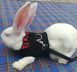 Rabbit & Small Animals Harness Leash Lead Vest with Bow Tie
