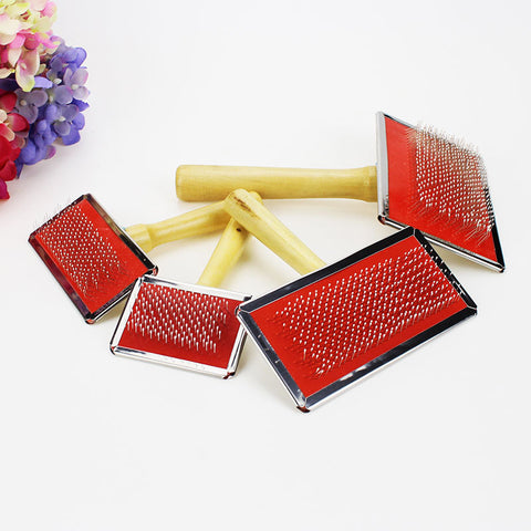 4 Size Pet Grooming Comb Wooden Handle Needle Comb For Hair Pet Brush Beauty Brush Dog Accessories