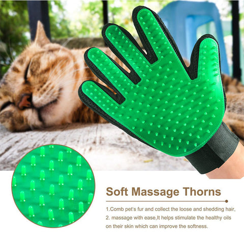 Pet Brush Glove Gentle Efficient Pet Dog Massage Grooming Groomer