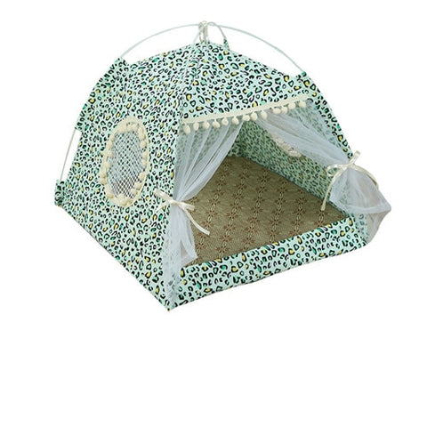 Breathable Pet Cat House Cave Beds Puppy Dog  Cat Sleeping Bag Cushion Summer Bamboo Mat Design