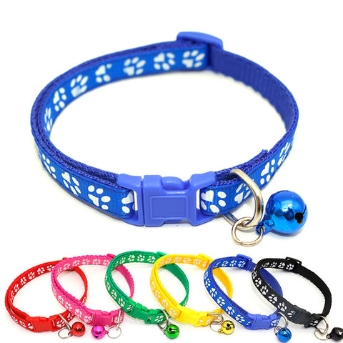 Easy Wear Cat Dog Collar With Bell Adjustable Buckle Dog Collar Cat Puppy Pet Supplies Cat Dog Accessories