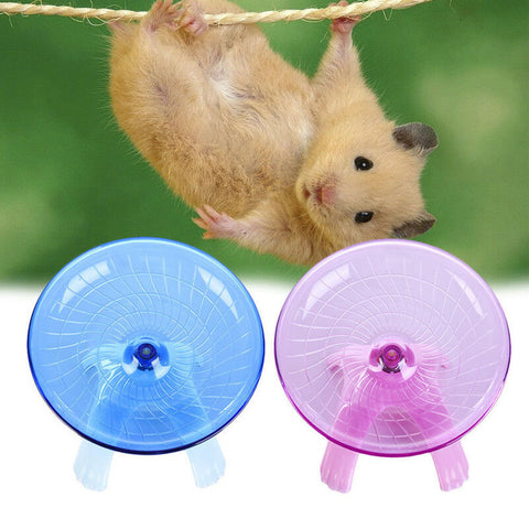 New Arrival Non Slip Running Disc Flying Saucer Exercise Wheel Toy For Pet Mice Dwarf Hamsters Small Animals