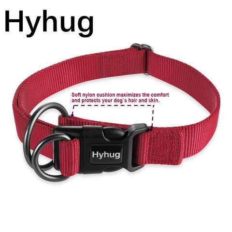 Hyhug Large Medium And Small Dog Collars Adjustable Collar Soft Multipurpose Dog Pulling Collar Outdoor Comfortable Dog Necklace HY114